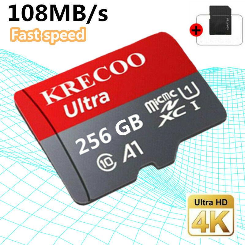 Memory HC Card 256/128GB TF Flash Micro Card Fast C10 &Adapt