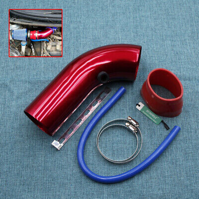 3''/76mm Aluminium Red Car Cold Air Intake Systems Inlet Pipe Intake Tube