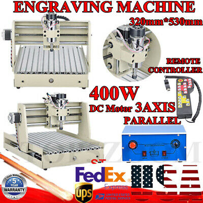 3 Axis Cnc3040t Engraver Machine Router Milling Wood Cut Engraver Remote Control
