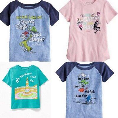 Dr Seuss Cat in the Hat Boys Girls T-Shirt - Dr Seuss Shirt
