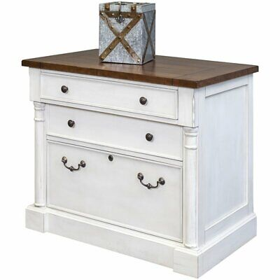 Martin Furniture Durham 3 Drawer Lateral File Cabinet In White