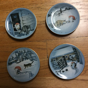 Detailed small collector's Danish Christmas plates