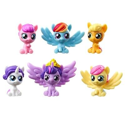 "My Little Pony My Baby Mane 6 Mini Figures 1"" Hasbro For Ages 3+ Brand New"