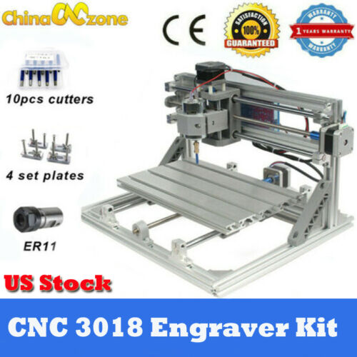 MINI CNC 3018 3 Axis Engraver Machine For PCB Wood Carving D