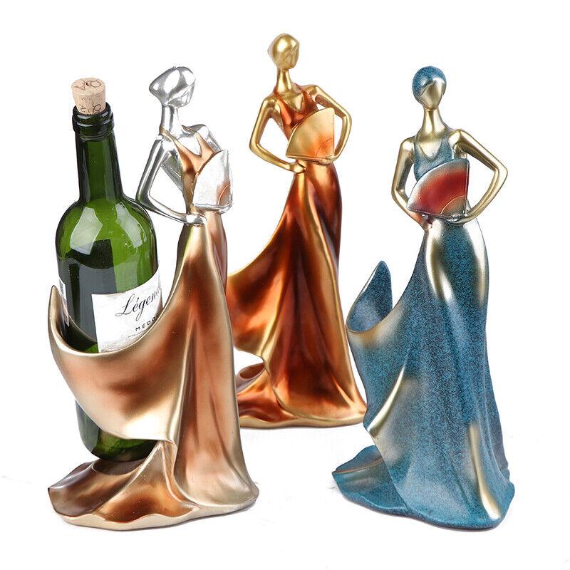 Home Decorative Figurines Ornament Modern Minimalist Beauty Wine Rack Decor