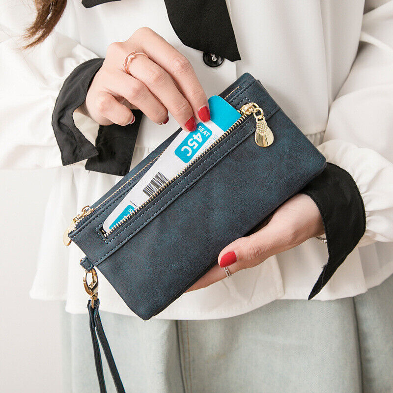 New Women Lady Leather Wallet Long Card Holder Phone Bag Case Purse Handbag US Clothing, Shoes & Accessories
