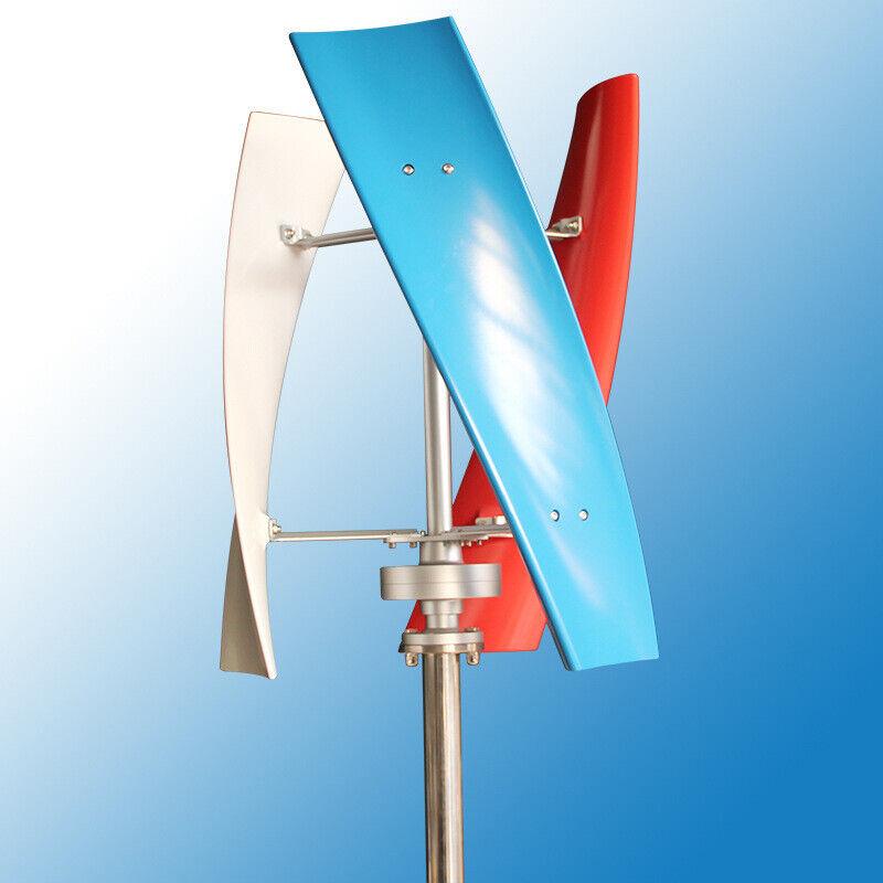 DC 12/24V 3-Blades Helix Power Turbine Generator 450W Vertical Axis Wind Power