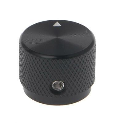 0.24 Dia Black Aluminum Rotary Control Potentiometer Knob 20mm X 16mm Lw