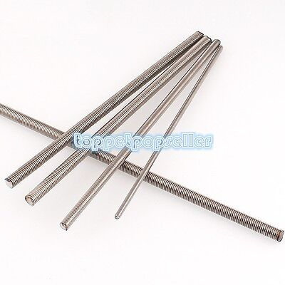 1Pc Threaded Rod 304 Stainless Steel Screws M2 M2.5 M3 M4 M5 M6 M8 M10 M12M16M20