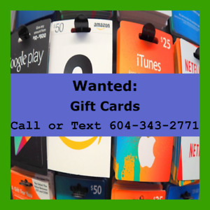 Sell gift cards store credit prepaid cards for cash!