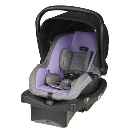 EVENFLO ADVANCED LITEMAX INFANT CAR SEAT, RAVEN LILAC *DISTRESSED PKG