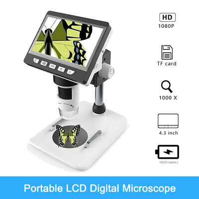 4.3 1000x Portable Electronic Microscope Lcd Hd Magnifier For Pcb Phone Repair