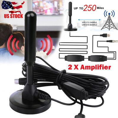 250 Mile Range Antenna TV Digital HD Skywire 4K Antena Digital Indoor HDTV 1080p