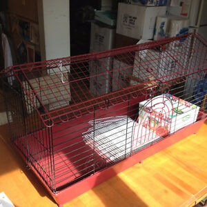 Small Animal Cage for Rabbit or Guinea Pig with Accessories