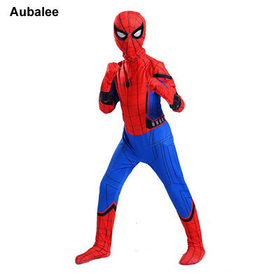 Spiderman Homecoming Costume For Kids Halloween Party New Boy Superhero Bodysuit