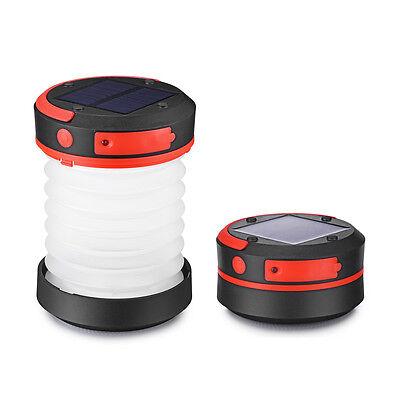 LED Campinglampe Solar Campingleuchte Camping Zelt Laterne Wasserdicht Faltbar