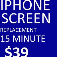Cheapest in town IPhone 4/4s/5/5c/5s,6,screen repair $39.99