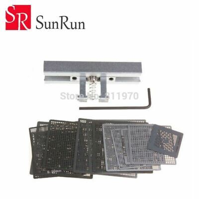 27pcs Bga Directly Heat Reballing Universal Stencils With Template Jig For Smt S