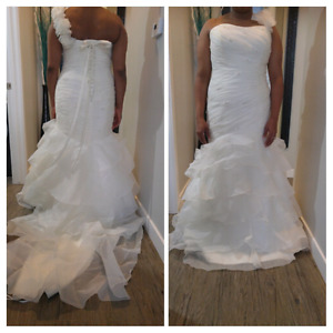 Mori Lee designer ivory bridal gown