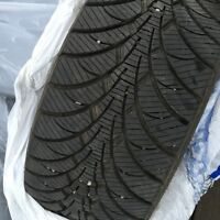Four 80% New Winter Tires 225 45 R17