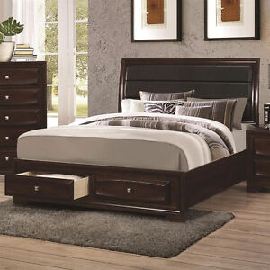 Six piece bedroom furniture with king size bed