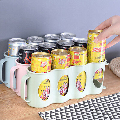 Refrigerator Storage Box Beverage Can Space-saving Cans 4 Case Organizer Boxes