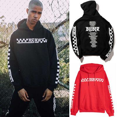 2018 Justin Bieber Purpose The World Tour Hoodie Sweatshirt Pullover Coat Usa