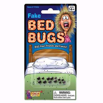 FAKE BED BUGS  Funny Gag Trick Halloween Prank School Work Realistic Gross!  - Halloween Fake Bugs