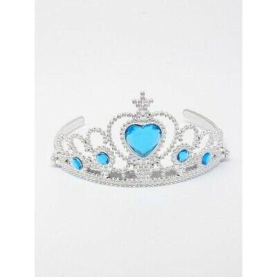 Elsa Frozen Principessa Blu Diamanti Corona Tiara con Pinze Travestimento UK