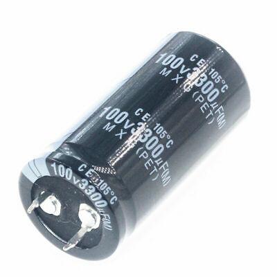 100v 3300uf 100volt 3300mfd Electrolytic Capacitor 25mm50mm