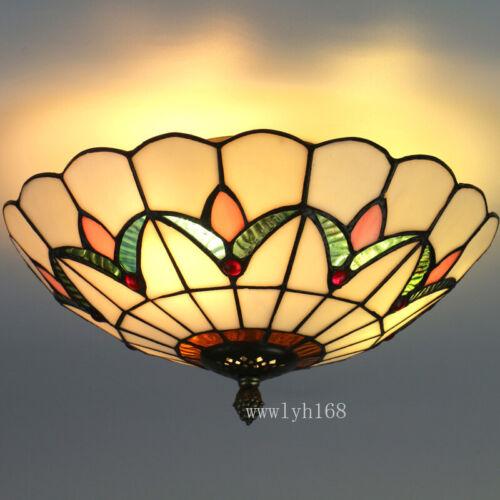 Tiffany Style Semi Flush Mount Ceiling Light Pendant Lamp St