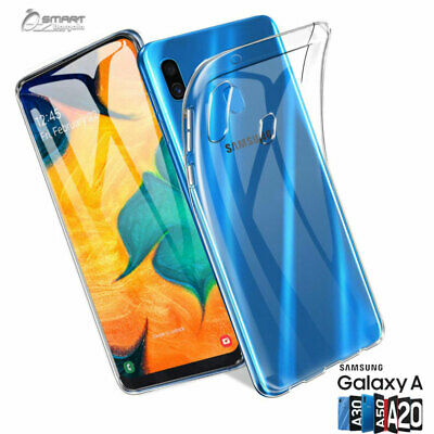 Clear Gel TPU Skin Jelly Soft Case Cover For Samsung Galaxy A20 A30 A50 Jelly Skin Cover