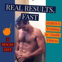 *3 SPACES LEFT* Private, 1-on-1 Personal Training+Diet Coaching!