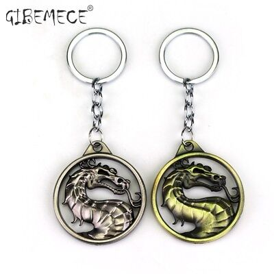 Dragon Keychain Hot Game Mortal Kombat Key Ring Men Metal Key Holder For Gift