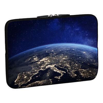 Design Notebook Schutzhülle 17,3 Zoll Laptop Tasche, Space Night Europa Nacht