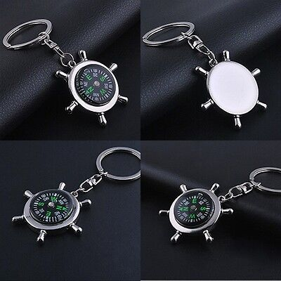 Portable Camping Sport Hike Mini Metal Precise Keychain Outdoor Compass Ring New