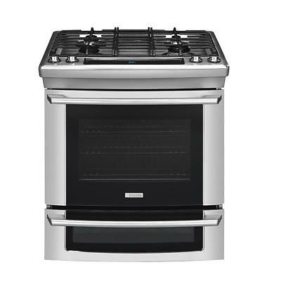 """Electrolux Stainless Steel 30"""" Dual Fuel Slide in Range Gas Top / Electric Oven"""