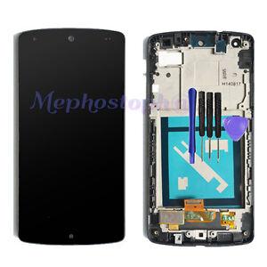 For Black LG Google Nexus 5 D820 D821 LCD Touch Screen Display Digitizer Frame