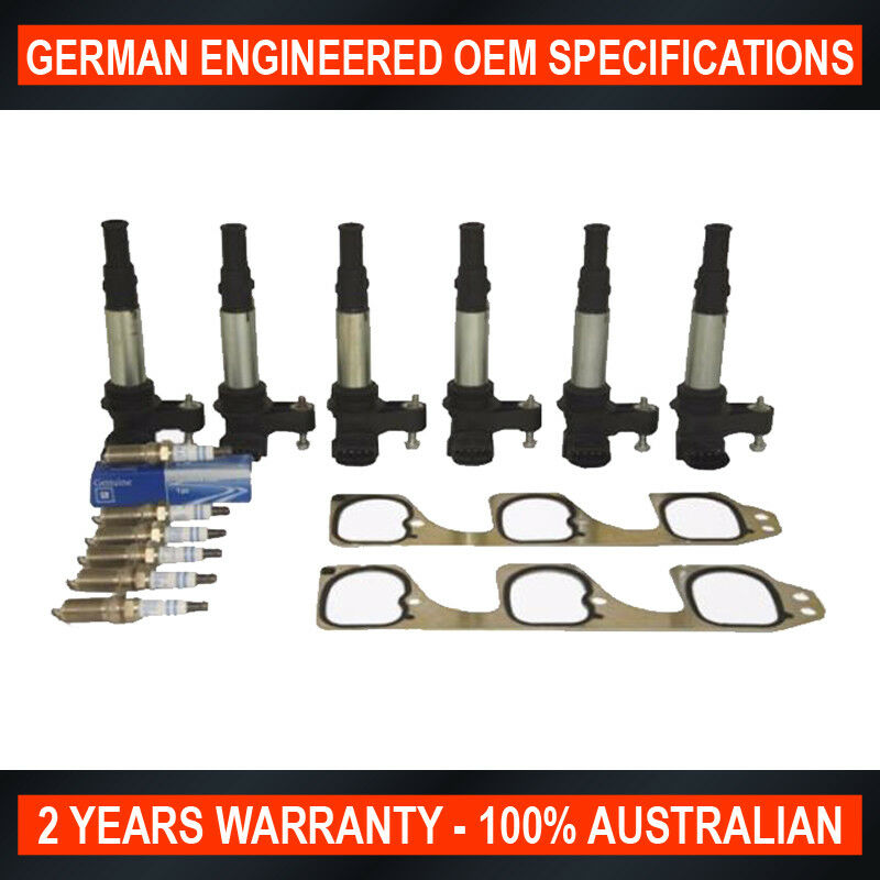 Holden Commodore Vz Ra Ignition Coils X 6 Genuine Gm Spark Plugs