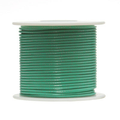 18 Awg Gauge Stranded Hook Up Wire Green 25 Ft 0.0403 Ul1015 600 Volts