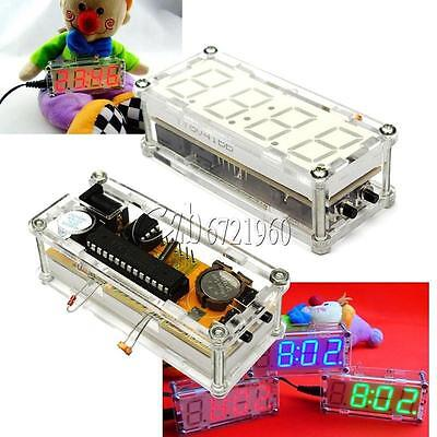DIY Kit LED Electronic Clock Microcontroller LED Red Clock Time Thermometer