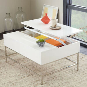 west elm lacquered white storage coffee table