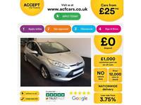 Ford Fiesta 1.0, 1.2, 1.4, TDCI Titanium Zetec SILVER, 5dr FROM £25 PER WEEK