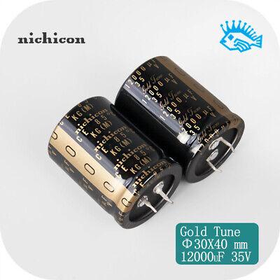 15pcs Nichicon 35v12000uf Kg Gold Tune Audio Filter Electrolytic Capacitor
