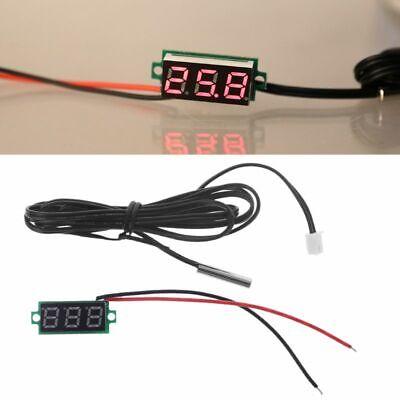 0.28 Display Digital Thermometer With Ntc Metal Probe Temperature Sensor Detect