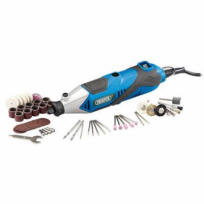 Draper 56PC Rotary Multi Tool Hobby Precision Drill + Dremel Type Accessories