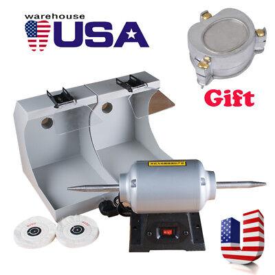 Us Polishing Machine For Dental Jewelry Motor Lathe Bench Grinder Denture Flask