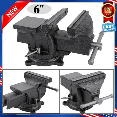 6 Heavy Duty Work Bench Vice Engineer Jaw Swivel Base Workshop Vise Clamp New