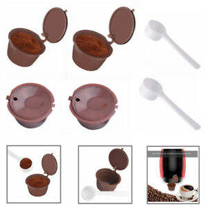 4x Refillable/Reusable Coffee Capsule Pods Cups for Nescafe Dolce Gusto Machine