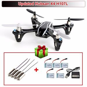 Upgraded 2.4G 4CH Hubsan X4 V2 H107L RC Quadcopter+Free Battery+Charger+4xMotor